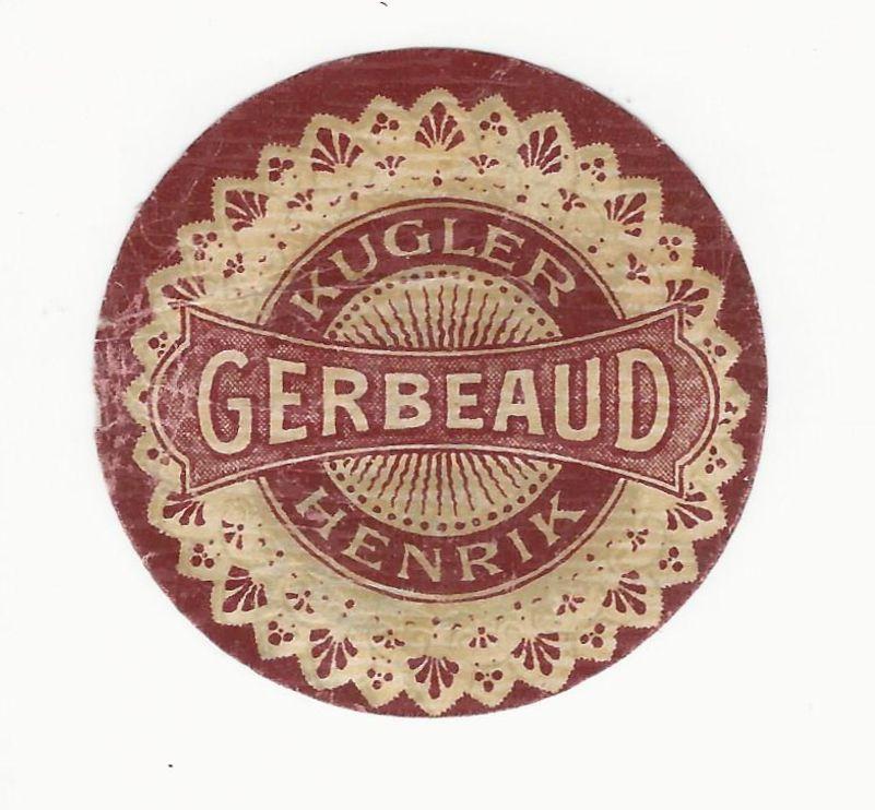 Gerbaud és Kugler neve együtt a címkén